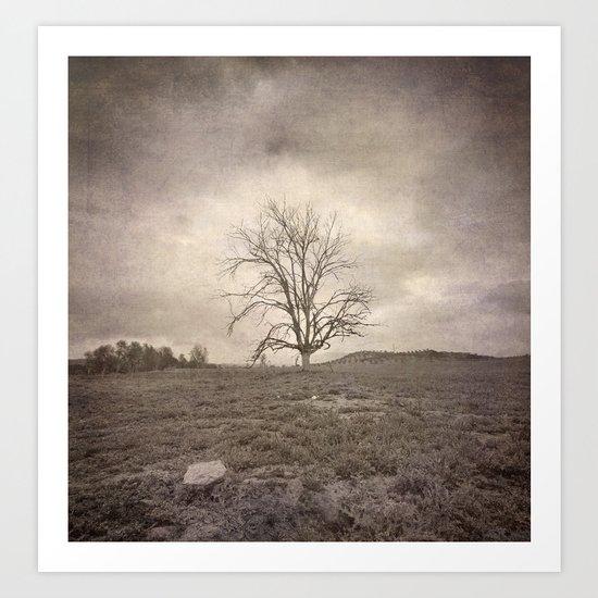 """Tree under the rain"" Art Print"