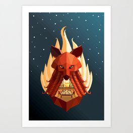 The Sly Counselor Art Print