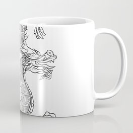 Mandala Dragen- Grey Coffee Mug