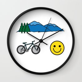 """Big fan of """"Mountain Bike""""? Grab this awesome tee and wear them anytime. Stay creative and positive! Wall Clock"""