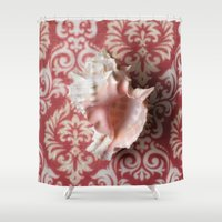 shell Shower Curtains featuring Shell by Elliott's Location Photography
