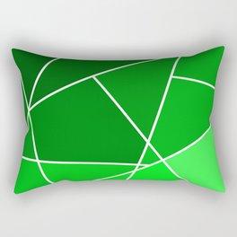 Green Line Pattern Rectangular Pillow