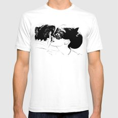 Whispers Mens Fitted Tee SMALL White