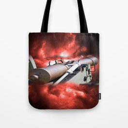Cannon and bombing Tote Bag