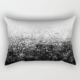 fading paint drops - black and white - spray painted color splash Rectangular Pillow