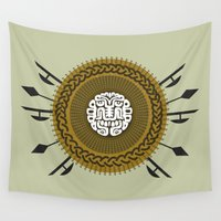 shield Wall Tapestries featuring Shield  by Daniac Design
