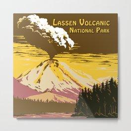 Vintage Lassen Volcanic National Park Metal Print
