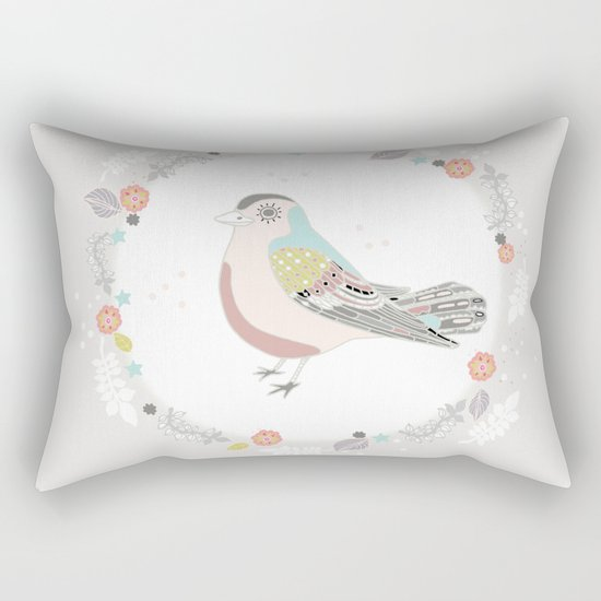 white moon Rectangular Pillow