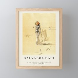 Poster-Salvador Dali-Female figure with head of flowers. Framed Mini Art Print