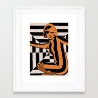 mod Framed Art Prints featuring mod by bobbybard