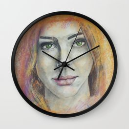 Frosted Windows of Color Wall Clock