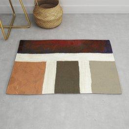 Textured Cubism -Modern Art - Color Blocking Art - Hospitality Art - Corbin Henry Rug