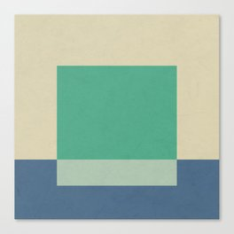 Green Square Canvas Print