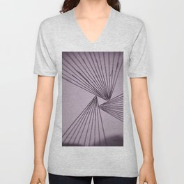 Purple Focused Love Unisex V-Neck