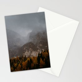 Moody Fall Dolomites Stationery Cards