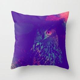 European Eagle Owl Throw Pillow