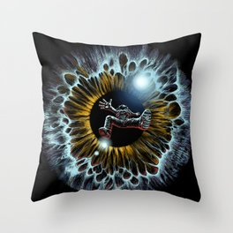 Lost in your eye - Cosmic Throw Pillow