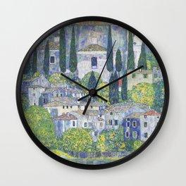Gustav Klimt Church in Cassone Wall Clock