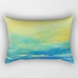 YELLOW & BLUE TOUCHING #1 #abstract #art #society6 Rectangular Pillow