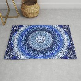 Cobalt Tapestry Mandala Rug