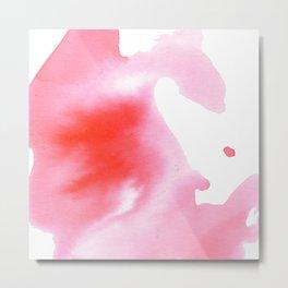 Peach Watercolour Metal Print