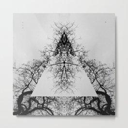 Pyramid of dry Tree Metal Print