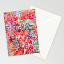 Lombard map Illinois IL 2 Stationery Cards