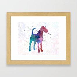 Irish Terrier in watercolor Framed Art Print