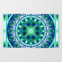 Sacred Places Green Rug
