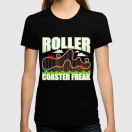 Roller Coaster Freak Gift Park Kirmes T-shirt