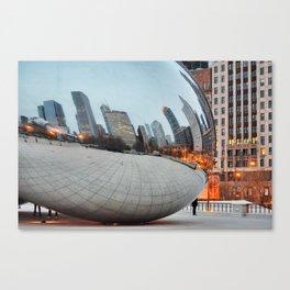 Chicago Bean - Big City Lights Canvas Print