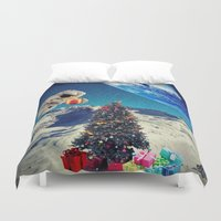christmas tree Duvet Covers featuring Christmas Tree by Cs025