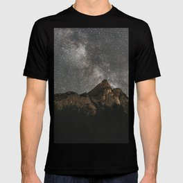 Milky Way Over Mountains - Landscape Photography T-shirt