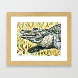 Gator Buddy Framed Art Print