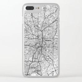 Atlanta Georgia Map (1981) BW Clear iPhone Case