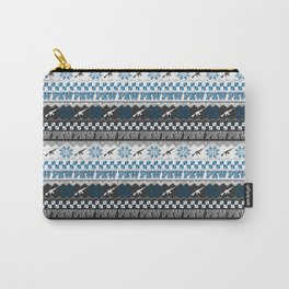 Pew Pew Gun Ugly Christmas Sweater Pattern Carry-All Pouch