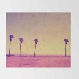 Four Palms In Paradise Throw Blanket