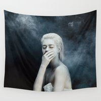 fear Wall Tapestries featuring Fear by Jovana Rikalo