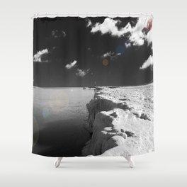 Ice Cliffs Shower Curtain
