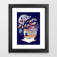 Thousand lives Framed Art Print