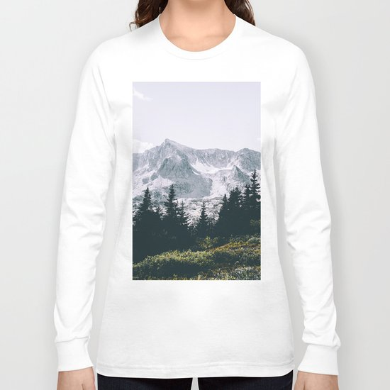 Mountains #faded Long Sleeve T-shirt