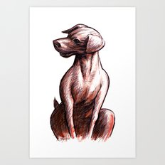 Talking Dogs Art Print
