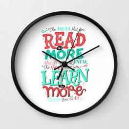 Read More Learn More Wall Clock