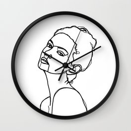 Women face one line drawing - Adel Wall Clock