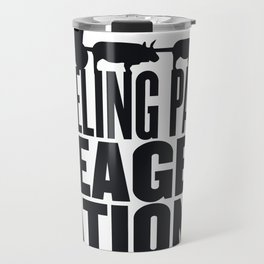 Grueling Pace Meager Rations (Black) Travel Mug