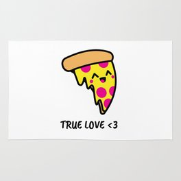 Pizza Is Love Rug