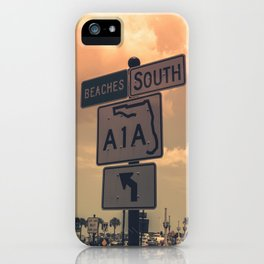 A1A South To The Beaches iPhone Case