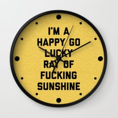 Ray Of Sunshine Funny Quote Wall Clock