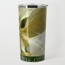 Pale Yellow Poinsettia 1 Happy Holidays S6F1 Travel Mug
