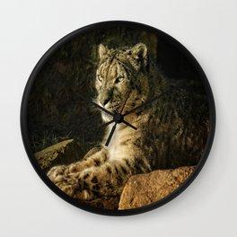 Endangered Snow Leopard Wall Clock